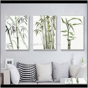Paintings Bamboo Leaf Poster Zen Decoration Chinese Unreal Abstract Ink Print Wall Art Canvas Painting Picture For Home Decor Apbcb Zbe5Y