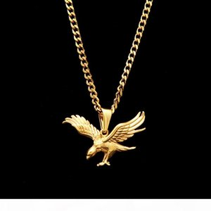 New Dapeng Wings Eagle Pendant Necklace Lucky Animal Figure Hip Hop Men Jewelly Charm Jewelry With Chain