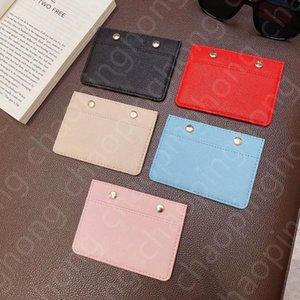 Classic Men Women Mini Small Wallet High Quality Credit Card Holder Slim Bank Card holder Total 5 Card Slot Embossing Metal Rivets