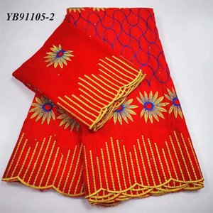 Ribbon Red Color Embroidery Cotton 5+2 A Set To Match The Bride Dress Material Advanced Design