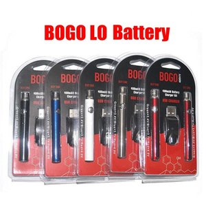 Bogo Double 400mAh Battery USB Charger Kit 510 Thread LO Preheat and Adjustable Voltage Cartridge Vape Pen for Thick Oil