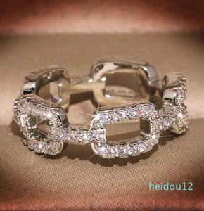 luxury- Hot Fashion Brand Designer Rings for Women Shining Crystal Ring Jewelry with CZ Diamond Stone