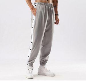 button streetpants side sports pants men's loose casual pant sport Leggings fog style trousers