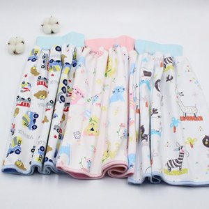 Waterproof Cartoon Pattern High Waist Urination Skirt Cotton Baby Diaper Non-slip 1Pcs Infant Supplies Breathable Cloth Diapers