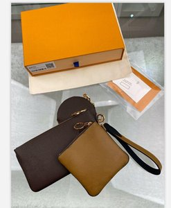 المصممين النمط الكلاسيكي حار باريس بيع 3 قطعة مجموعة حقائب النساء حقائب اليد المحافظ حمل حقائب عملة محفظة ثلاثة البند محفظة