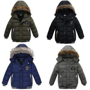 Дети вниз пальто мальчиков для мальчиков хлопок мягкая куртка зимняя одежда для девочек камуфляж длинный с капюшоном верхняя одежда карманные толстовки без одежды джемпер детская одежда C6499