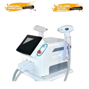 Cleaning Portable 2 In 1 1064nm 755nm 808nm Diode Laser Hair Removal &ND YAG Tattoo Carbon Stripping Machine For Salon
