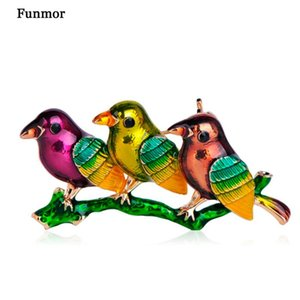 Pins, Brooches Funmor Cute Bird Shape Brooch Enamel Animal Pins Women Girls Coat Sweater Corsage Gathering Holiday Decoration Accessories Gi