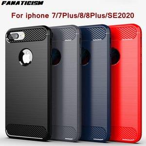 Ударозащитный бампер из углеродного волокна для iPhone SE2020 Case Case Catched Cover Cover iPhone7 7Plus iPhone8 8Plus Shell Coque