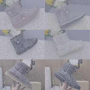 2021 Fur Half transparent Snow Boots Waterproof Women Boots Classic Clear Mini TPU Winter Boots Designers Ankle Black green Shoes SIZE D7tZ#