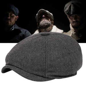 Baret Dark Grey Celebrity Caps Vintage Tweed Peaky Blinders Barets Plate Pet Street Hats for Men Women