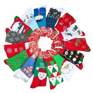 Cotton Christmas lovely elk snowflake   Santa Claus men's and women's medium tube socks