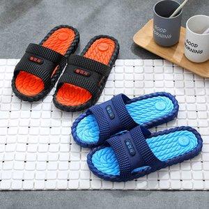 2021 Summer Men's and Women's Bathroom Slippers Pvc Super Soft Home Couple Adult Floor Sandals