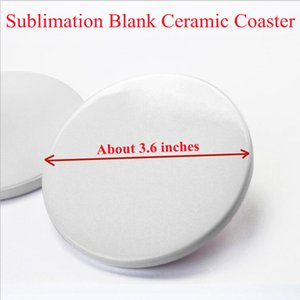 Sublimation Blank Ceramic Coaster Mats & Pads Suit For Mug White Round And Square Shape DIY Customize Coasters By FedEx A14