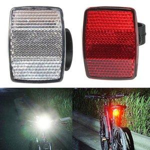 2pcs set Handlebar Mount Safe Reflector Bicycle Bike Front Rear Warning Red   White Lights