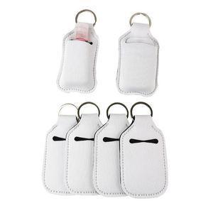 30ml sublimation Neoprene SBR blank hand sanitizer set white perfume bottle holder ke48H4