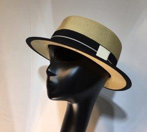 Sun Stingy Brim Panama Hat Cap Weave Grass Mesh Hats Summer Fashion wear Casual Outdoor Women TRAVEL Caps with box