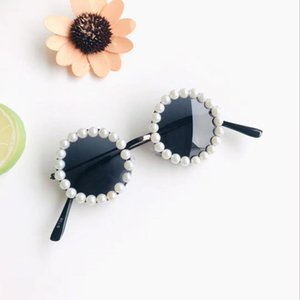 Children's Sunglasses Brand Designer Pearl Polarized Eyewear Kids Anti-uv Baby Sun-shading Eyeglasses Girl Boy Round Glasses HHC7039
