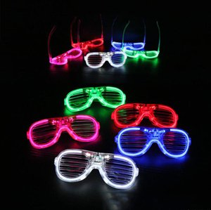 LED luminous glasses Buddy blinds party dance activities bar music festival cheer props flashing spectacles net red toys