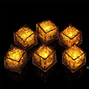 LED Glowing Light Up Ice Cubes Slow Flashing Color Changing Cup Light Without Switch Wedding Party Halloween Decoration Bar Tools HWE8511