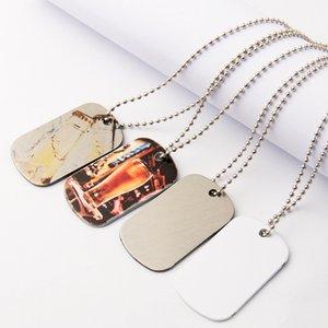قلادة التسامي الفراغات مصمم مجوهرات diy الرجال الفولاذ المقاوم للصدأ الفضة الجانب المعلقات حزب عيد الحب هدية قلادات
