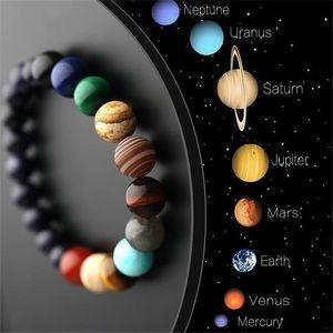 Jd 2021 Eight Planets Bead Natural Stone Universe Yoga Solar Chakra Bracelet for Women Men Jewelry Presents