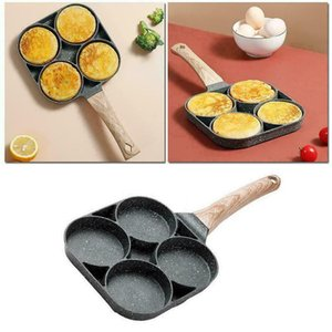 Pans 4 2 Hole Thickened Saucepan Frying Pan Set Skillet Nonstick Cookware Cooking Pots For Kitchen Egg Pancake Breakfast Maker