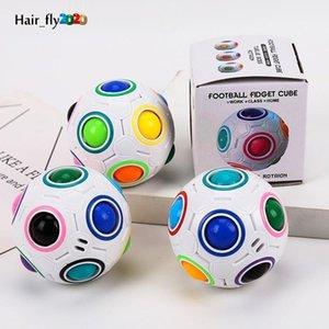 EU estoque criativo esférico magia arco-íris bola plástico puzzle crianças educação educacional torção fidget brinquedos para crianças fy2505 hy19