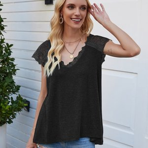 Ladies Tops Womens Clothing Clothing For T-shirts Women Loose and Comfortable Mouwlless Hollow Out Casual Solid Regular