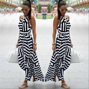 Summer Skirts Women Skirt Sexy Boho Striped Sleeveless Maxi Long Beach Style Strap Sundress Vestidos For Female