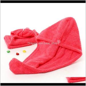 Shower For Magic Quick Dry Microfiber Drying Turban Wrap Hat Cap Spa Bathing Caps Hair Towel 2665Cm Ljja3818 778Qm 1Ktje