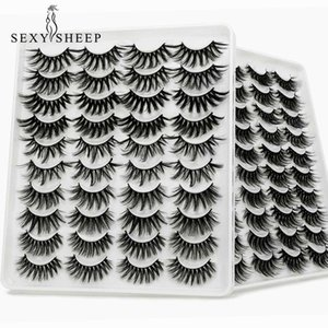 5 8 20 Pairs 3D Mink Lashes Natural False Eyelashes Dramatic Volume Fake Makeup Eyelash Extension Silk Handmade