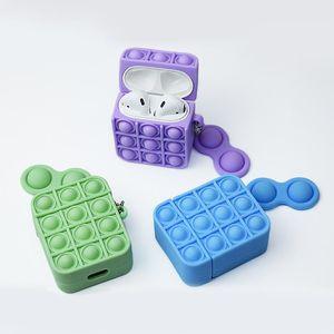 Чехол для наушников для AirPods 1/2 Apple Wireless Wioldphone Reperver Light Toys Push It Bubble Silicone Case AirPods Pro Защитная крышка