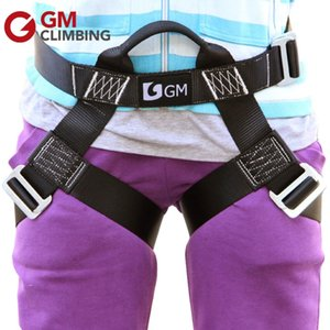 S Size Safety Climbing Harness Outdoor Rope Rappelling Zipline Rock Mountaineering Equip Garden Play Half Body Harness