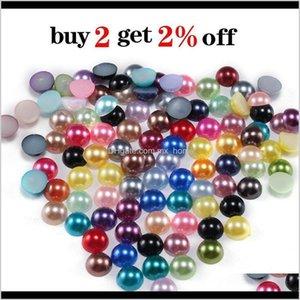 2 3 4 5 6 8 10 12 14 Mm Imitation Pearl Round Half Bead Bulk Wholesale Beads For Jewelry Making H Jllioz Jlygb Hrin3