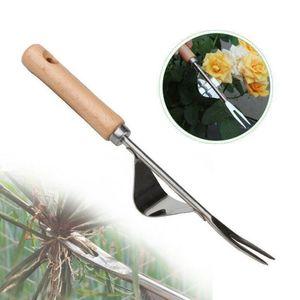 1pc jardin wederer pelle outil pelouse pelouse robuste creusant extracteur poignée de la main efficace facilité facile Appliquer éliminer herbe / extracteur long poignée longue
