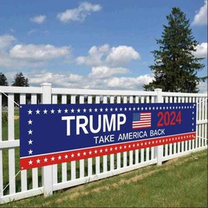 Trump 2024 US Presidential Campaign Election Banner Accessories Keep America Great Letters Printed Garden House Flag BWB6331