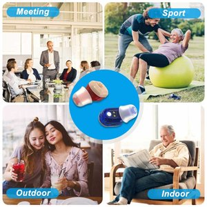 Rechargeable Mini Hearing Aids Sound Amplifier Wireless In Ear Hearing Device for Adults & Seniors with Storage CaseRabin
