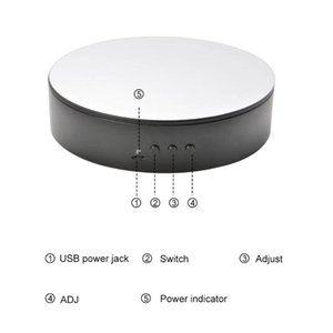 5.9inch Motorized Rotating Display Stand Electric Turntable Live Streaming Multifunctional For Pography 360 Degree Non Slip Lighting & Studi