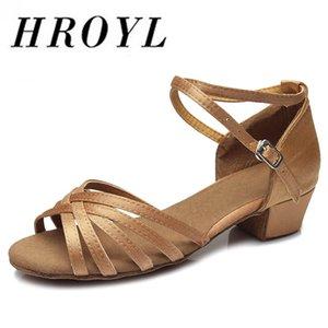 Zapato de alta calidad Llegada Venta al por mayor Niños / Niño / Niños Ballroom Tango Salsa Latin Dance Shoes Low Heel 20 colores