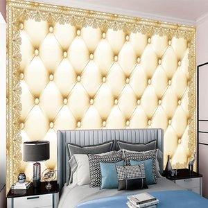 Elegant Bedroom 3d Mural Wallpaper Modern Classic Wallpapers Exquisite Border Floral Interior Background Wall Decoration Wallcovering