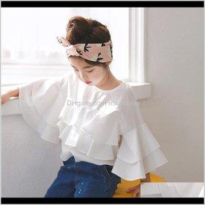 Spring Cotton Ruffles White Teenage Kids Girls Blouses Shirts Baby Clothes School Autumn Summer Children Fashion Tops 210305 Dzzuu Xsyua