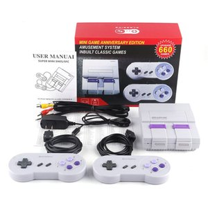 Mini TV Video Entertainment System 660 Game Console Player For SNES Games Wth Controllers Retail Box Hot Selling