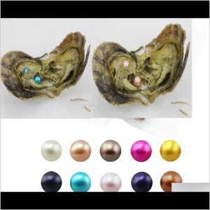 Loose Beads Jewelry Drop Delivery 2021 Single Twins Triplet Quads 30Pcs Mix 25Colors Individual Vacuum Package 68Mm Saltwater Round Akoya Pea