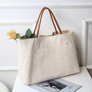 Canvas Handbags For Women Fashion Bag Beach Reusable Shopping Casual Cart Large Capacity Ladies Shoulder Bags Tote GWE4424 9R5A