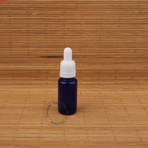 10pcs Lot 15ml Empty Blue Glass Essential Oil Dropper Bottle 15cc White Lid Vials Refillable Portable Travel Boxgoods