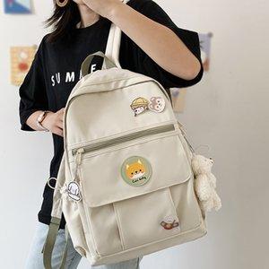 College Book Lady Badge Backpack Kawaii Fashion Girl School Bag Trendy Women Cute Backpack Nylon Female Harajuku Bag Student