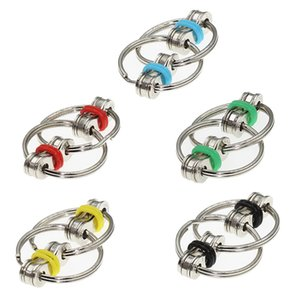 1 Piece Available Key Ring Hand Spinner Fidget Vent Pressure Reducing Chain Adult Decompression Toy