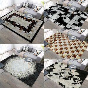 Black White Imitation Cowhide 3D Printed carpets Modern Nordic Home Decor Floor Rug Child Bedroom Play Area Rugs Kids Room Mats 1914 V2