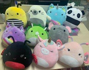 Modefilme Plüschspielzeug für Partybevorzugung Tierpuppe Kawaii Unicorn Dinosaurier Löwen Weiche Kissen Kumpel Gefüllte Kinder Geschenk